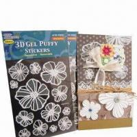 Wholesale 3D gel puffy stickers, metallic, glitter from china suppliers