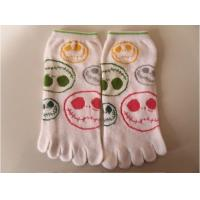 China Custom Printed Colorful Five Toe Socks With Cute Patterns For Girls / Kids / Children on sale
