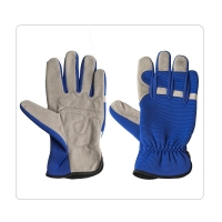 Buy cheap Motorcycle Driving Cow Split Leather Safety Gloves from wholesalers