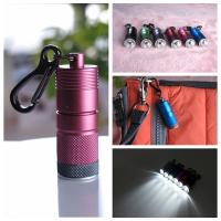 Wholesale top grade LED promotional keychain light with clip from china suppliers