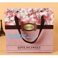 Buy cheap Manufacturer hot sale cheap custom paper bag luxury kraft paper bag,pure color special paper flower bag with ribbons han from wholesalers