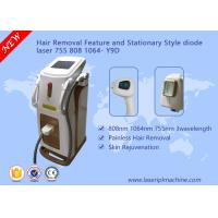 Buy cheap Depilation Diode Laser Hair Removal Machine 3 Wavelength 755nm 808nm 1064nm from wholesalers