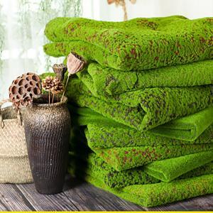 Wholesale Green Silk Cloth Moss Artificial Grass Vertical Garden Wall Panles  Size 1*1m from china suppliers