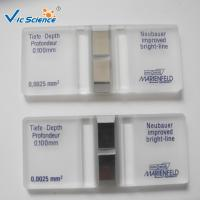 Wholesale Bacteria Number Cell Counting Chamber 79mm×39mm×13 Mm 0.1 Microliter from china suppliers