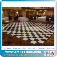 Buy cheap Custom Black and White PVC Dance Floor Banquet Room Floors from wholesalers