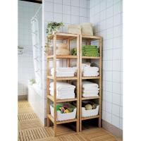 Buy cheap new design home use multi-functional bamboo bathroom towel shelves from wholesalers
