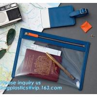 Buy cheap Eco-friendly promotion gifts PVC colorful passport bag,Clear Passport Bag and ID badge holder with neck lanyard bagease from wholesalers