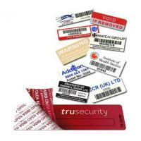 Buy cheap Strong Adhesive Removed Printable Security Labels / VOID Self Destructive Labels from wholesalers