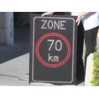 China Automatically 1R1W Single Chip Adjust Outdoor Moving Led Traffic Signs Controlled by PC on sale