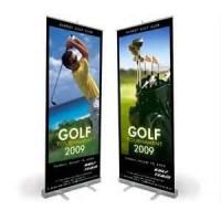 Buy cheap VL-RS-11 Wide Base chromed plastic Roll up Banner Stands with double layer for promotion sales  from wholesalers