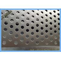 Buy cheap Powder Coated Perforated Metal Sheet Staggered Round Punched Customized Length from wholesalers