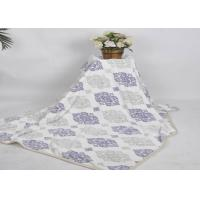 Buy cheap Anti - bacterial flower printed extremely soft fleece blankets throws for various people from wholesalers