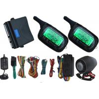 2 Way Auto Car Alarm System Car Security Devices With LCD Remote Displays Alarm Alert Information Manufactures