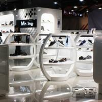 Buy cheap Beautiful retail lady shoe shop design with customized size from wholesalers
