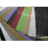 Buy cheap Hole Punch Pattern PU Black Perforated Leather Fabric With Nonwowoven Backing from wholesalers