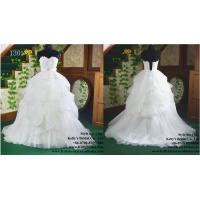 Quality Hot sale sweetheart neckline tulle appliqued lace wedding dress for sale
