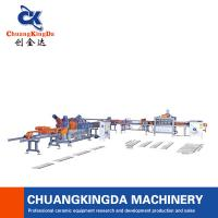 Buy cheap Dry Type Full Automatic Multi Blade Ceramic tile Porcelain Cutting Machine Production Line from wholesalers