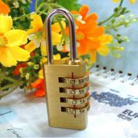 Wholesale 4 Digits Brass Combination Padlock Brass Lock CR-04F from china suppliers