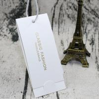 Buy cheap Custom Clothing T Shirt Hang Tags White Color Fashionable Square Shape from wholesalers