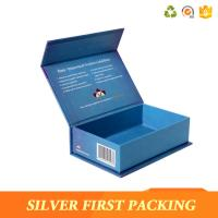 Buy cheap Silver First custom high-top book shape box cardboard flip top box buy from China from wholesalers
