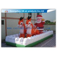 Buy cheap Outside Inflatable Christmas Blow Up Santa And Reindeer For Party / Stores from wholesalers