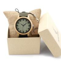 Buy cheap Nylon band green wood dial men quartz wrist watches from wholesalers