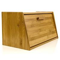 Buy cheap Beautiful Bamboo Bread Box Wooden Pastry Storage With Lid Shrink Wrap Packing from wholesalers