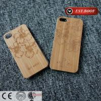 Buy cheap Bamboo Chip PC Apple iPhone Leather Cases Custom With Nice Figure from wholesalers