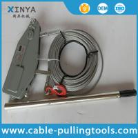 China Manual Cable Pulling Tools Hand Wire Rope Winch Wire Rope Tirfor 3.2 Ton on sale