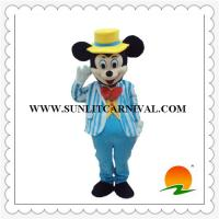Buy cheap blue stripe suit mickey mouse mascot costume,disney character mascot costume from wholesalers
