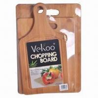 Buy cheap 3-piece Cutting Board Set, Made of Natural Bamboo from wholesalers