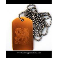 Buy cheap custom shape stainless steel blank dog tag with holes stamped punch out from wholesalers