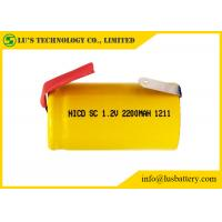 Buy cheap Multi Function Sub C 1.2 Volt Battery / Sub C 2200mah Nicd Rechargeable Battery from wholesalers