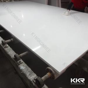China Kitchen Countertops Artificial Quartz Stone Sheet White Color Polished on sale