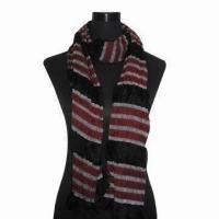 Buy cheap Rayon Scarf, Customized Specifications are Accepted, Measuring 67x178+10x2cm from wholesalers
