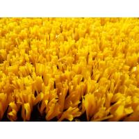 Buy cheap Plastic Yellow / Red Baseball Synthetic Turf Fibrillated Flame Resistant from wholesalers