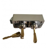 Buy cheap Durable Copper Dual Keys Safe Deposit Box Lock With UL Listed from wholesalers