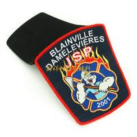 Buy cheap Polyester Woven Clothing Badges Patches Iron On Backing / Heat Seal Backing from wholesalers