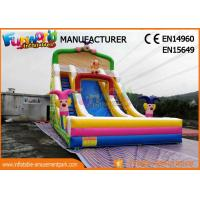Wholesale Clown Large Size Commercial Bounce House With Slide / Inflatable Kids Slide For Party from china suppliers
