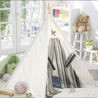 Buy cheap Foldable Kid Indoor Outdoor Teepee Tent Wigwam Black and White Striped Teepee 100% cotton canvas teepee from wholesalers