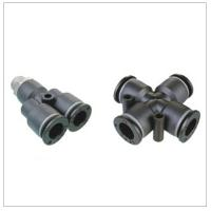 China PST male run tee pneumatic tube fittings on sale