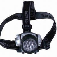 Buy cheap LED Camping Head Lamp with 3 x AAA Battery, Measures 7 x 7.5 x 4cm from wholesalers