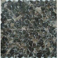 Buy cheap Dark Emperador Marble Mosaic,Garden Material, Free Size product