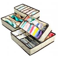 Buy cheap MIU COLORCollapsible Storage Boxes Bra Underwear Closet Organizer Drawer Divider 4 set, from wholesalers