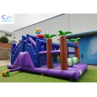 Buy cheap 4 in 1 kids outdoor pvc tarpaulin material inflable bouncer Inflatable forest slide from wholesalers
