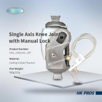 Buy cheap Single Axis Knee Joint with Manual Lock  stainless steel/ titanium  3R17/ 3R33 from wholesalers