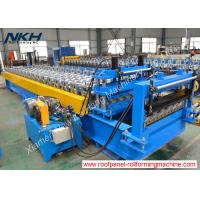 Buy cheap High Speed Roof Tile Roll Forming Machine Hydraulic Tile Pressing For Roof Panel from wholesalers