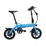 Buy cheap 36V 8AH Portable Folding Electric Bike , 14 Inch Electric Mini Bike Plastic Pedal from wholesalers