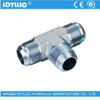Buy cheap Higher precision hydraulic JIC tube fitting hydraulic tee from wholesalers