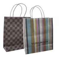 Buy cheap Customized fashion kraft paper shopping gift bag with paper twisted handle from wholesalers